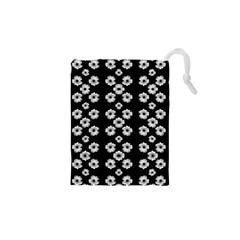 Dark Floral Drawstring Pouches (xs)  by dflcprints