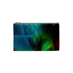 Background Nebulous Fog Rings Cosmetic Bag (small)
