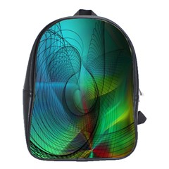 Background Nebulous Fog Rings School Bags(large)