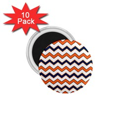 Chevron Party Pattern Stripes 1 75  Magnets (10 Pack)  by Amaryn4rt