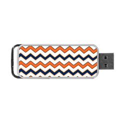 Chevron Party Pattern Stripes Portable USB Flash (Two Sides) by Amaryn4rt