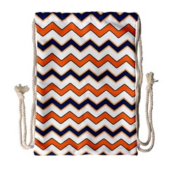 Chevron Party Pattern Stripes Drawstring Bag (large) by Amaryn4rt