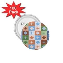 Fabric Textile Textures Cubes 1 75  Buttons (100 Pack)  by Amaryn4rt