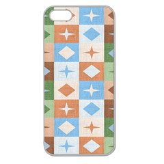 Fabric Textile Textures Cubes Apple Seamless Iphone 5 Case (clear)