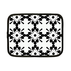 Floral Illustration Black And White Netbook Case (small)  by Amaryn4rt