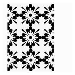 Floral Illustration Black And White Small Garden Flag (two Sides) by Amaryn4rt