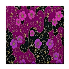 Floral Pattern Background Face Towel