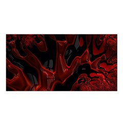 Fractal Red Black Glossy Pattern Decorative Satin Shawl by Amaryn4rt