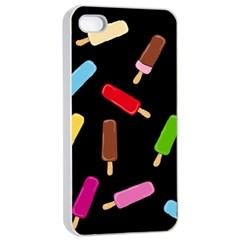 Decorative Ice Cream Pattern Apple Iphone 4/4s Seamless Case (white) by Valentinaart
