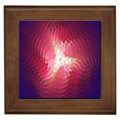 Fractal Red Sample Abstract Pattern Background Framed Tiles by Amaryn4rt