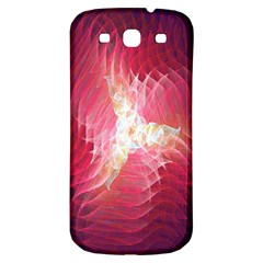 Fractal Red Sample Abstract Pattern Background Samsung Galaxy S3 S Iii Classic Hardshell Back Case