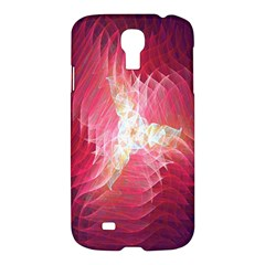 Fractal Red Sample Abstract Pattern Background Samsung Galaxy S4 I9500/i9505 Hardshell Case by Amaryn4rt
