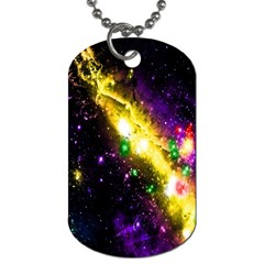 Galaxy Deep Space Space Universe Stars Nebula Dog Tag (two Sides) by Amaryn4rt