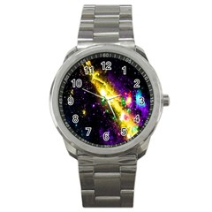 Galaxy Deep Space Space Universe Stars Nebula Sport Metal Watch by Amaryn4rt