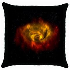 Galaxy Nebula Space Cosmos Universe Fantasy Throw Pillow Case (black) by Amaryn4rt