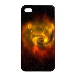 Galaxy Nebula Space Cosmos Universe Fantasy Apple Iphone 4/4s Seamless Case (black) by Amaryn4rt