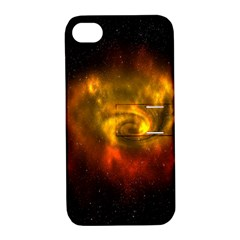 Galaxy Nebula Space Cosmos Universe Fantasy Apple Iphone 4/4s Hardshell Case With Stand by Amaryn4rt