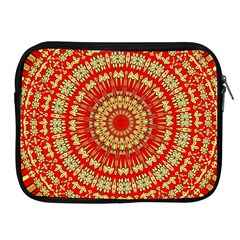 Gold And Red Mandala Apple Ipad 2/3/4 Zipper Cases by Amaryn4rt