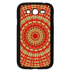 Gold And Red Mandala Samsung Galaxy Grand Duos I9082 Case (black) by Amaryn4rt