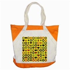 Heart Circle Star Seamless Pattern Accent Tote Bag by Amaryn4rt
