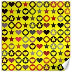 Heart Circle Star Seamless Pattern Canvas 20  X 20   by Amaryn4rt