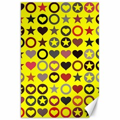 Heart Circle Star Seamless Pattern Canvas 20  X 30   by Amaryn4rt