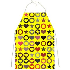 Heart Circle Star Seamless Pattern Full Print Aprons by Amaryn4rt
