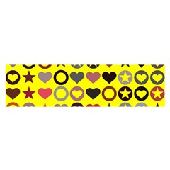 Heart Circle Star Seamless Pattern Satin Scarf (oblong) by Amaryn4rt