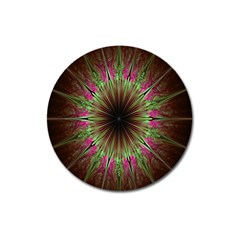 Julian Star Star Fun Green Violet Magnet 3  (round) by Amaryn4rt