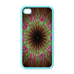 Julian Star Star Fun Green Violet Apple Iphone 4 Case (color) by Amaryn4rt