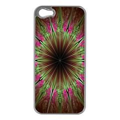 Julian Star Star Fun Green Violet Apple Iphone 5 Case (silver) by Amaryn4rt