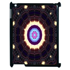 Mandala Art Design Pattern Ornament Flower Floral Apple Ipad 2 Case (black) by Amaryn4rt