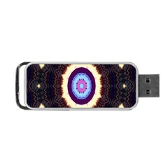 Mandala Art Design Pattern Ornament Flower Floral Portable Usb Flash (two Sides) by Amaryn4rt