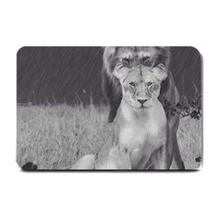 King And Queen Of The Jungle Design  Small Doormat  by FrontlineS
