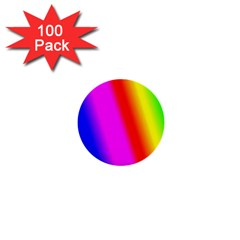 Multi Color Rainbow Background 1  Mini Buttons (100 Pack)