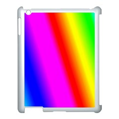Multi Color Rainbow Background Apple Ipad 3/4 Case (white)