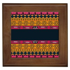 Pattern Ornaments Africa Safari Summer Graphic Framed Tiles by Amaryn4rt