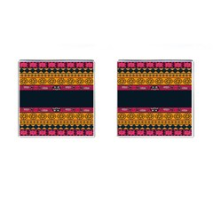 Pattern Ornaments Africa Safari Summer Graphic Cufflinks (square) by Amaryn4rt