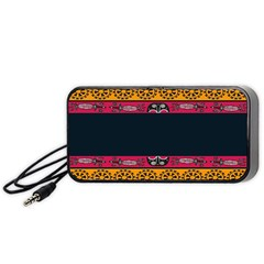Pattern Ornaments Africa Safari Summer Graphic Portable Speaker (black) by Amaryn4rt