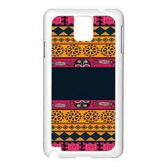 Pattern Ornaments Africa Safari Summer Graphic Samsung Galaxy Note 3 N9005 Case (white) by Amaryn4rt