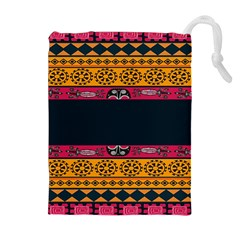 Pattern Ornaments Africa Safari Summer Graphic Drawstring Pouches (extra Large) by Amaryn4rt
