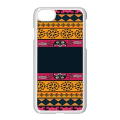 Pattern Ornaments Africa Safari Summer Graphic Apple Iphone 7 Seamless Case (white) by Amaryn4rt