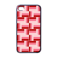 Pink Red Burgundy Pattern Stripes Apple Iphone 4 Case (black) by Amaryn4rt