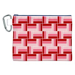 Pink Red Burgundy Pattern Stripes Canvas Cosmetic Bag (xxl) by Amaryn4rt