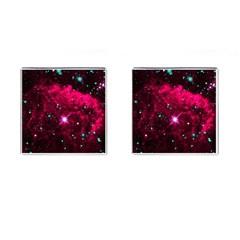 Pistol Star And Nebula Cufflinks (square) by Amaryn4rt