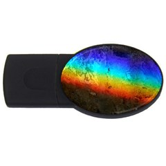 Rainbow Color Prism Colors Usb Flash Drive Oval (2 Gb) by Amaryn4rt