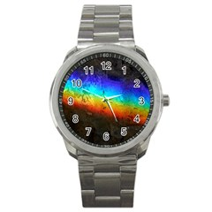 Rainbow Color Prism Colors Sport Metal Watch by Amaryn4rt