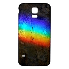 Rainbow Color Prism Colors Samsung Galaxy S5 Back Case (white)