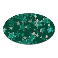 Star Seamless Tile Background Abstract Oval Magnet by Amaryn4rt