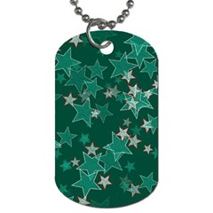 Star Seamless Tile Background Abstract Dog Tag (one Side) by Amaryn4rt